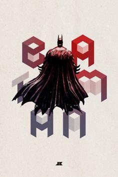Batman – illustration, typography and design by Josip Kelava Batman Poster, Dc Comics, Batman Hero, Geometric Poster, Cool Typography, Typography Poster, Batman Beyond, Creative Posters, Geek Art