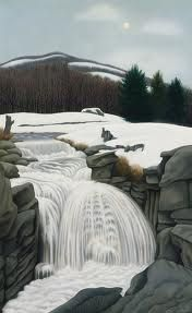 """""""Brook in the Mountains"""", 1945, George Ault"""
