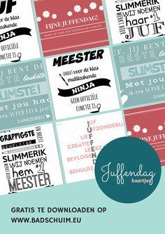 Juffendag kaartje, maar liefst 9 ontwerpen die gratis zijn te downloaden op creatief lifestyle blog badschuim.