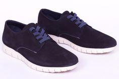 miMaO Urban 360 Marino - zapato cómodo hombre plano extraligero cómodo piel ante azul- Comfort men's flat shoes trainers navy blue suede  leather extralight