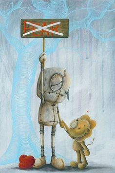 """Fabio Napoleoni """"No Place for you Here"""" Ltd Itty Bitty Paper SN 13"""" by 18"""""""