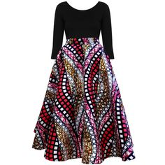 Ivie African Print Midi Circle Skirt (Pink/White/Gold) Getting this skirt for myself. African Fashion Skirts, African Wear Dresses, African Inspired Fashion, African Print Fashion, African Attire, African Prints, African Print Skirt, African Traditional Dresses, Pink White