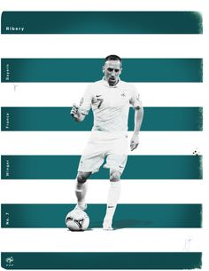 World Cup 2014 - Each Country's Fan Favourite by Jon Rogers, via Behance #soccer #poster #ribery