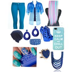 """Blue power!!! 3"" by hayleycavanaugh on Polyvore"