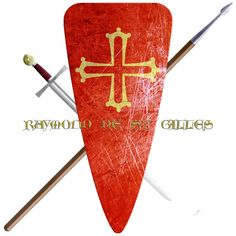 Raymond de Saint Gilles, Count of Toulouse, Duke of Narbonne, Margrave of Provence, Raymond I of Tripoli. Took the Cross in 1096 to join the first Crusade.
