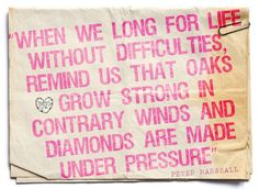 Life without difficulties...