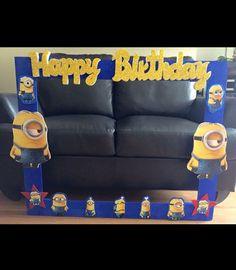 Minions Birthday Theme, Minion Theme, Boy Birthday, Birthday Ideas, Despicable Me Party, Minion Party, 1st Birthday Decorations, 6th Birthday Parties, Minion Photo Booth