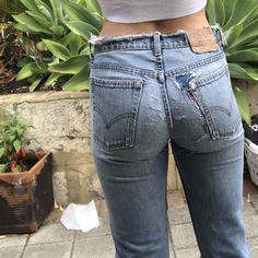 Teen Jeans, Girls Jeans, Jeans Women, Beste Jeans, Levis Jeans, Denim, Jean Outfits, Asian Girl, How To Look Better