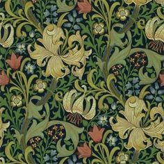Beställ Golden Lily blå/grön/turkos tapet från William Morris®