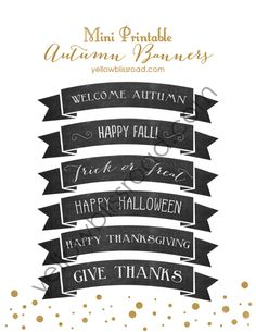Make an ordinary day special with these adorable mini Autumn chalkboard banners! Perfect for topping cakes or pies, even stacks of pancakes!