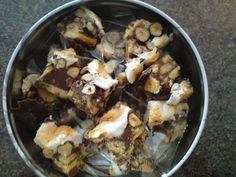 rocky road with marshmallow