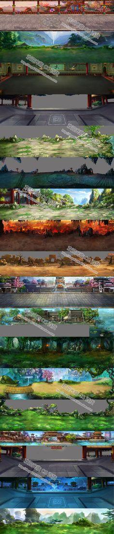 游戏原画资源/场景设计素材/2D资源 横...