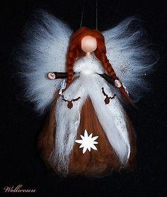 ❁ Alpen Fee ❁ Märchenwolle Fee / Elfe Jahreszeitentisch Dekoration in Möbel & Wohnen, Hobby & Künstlerbedarf, Basteln   eBay