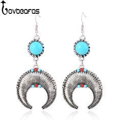 LOVBEAFAS 2017 Fashion Vintage Bohemian Earrings For Women Long Drop Earrings Jewelry