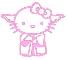 STAR WARS HELLO KITTY YODA - 2 PACK! - PINK!