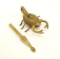 Rare Scorpion Shaped Padlock Vintage Lock by BrassRabbitVintage