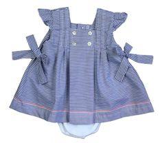 Timeless nautical baby dress!