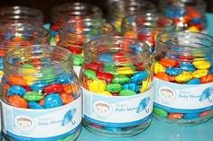 TheLaceyPlace - Baby Food Jar Shower Favors! Love!