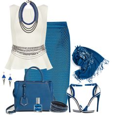 Feeling Blue, created by brendariley-1 on Polyvore