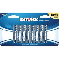 RAYOVAC 815-24SCF AA Alkaline Batteries, 24 pk
