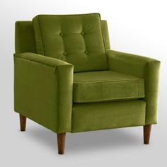 Our blue chair is getting a bit worn out, and I think green would look better with our brown couch anyway.