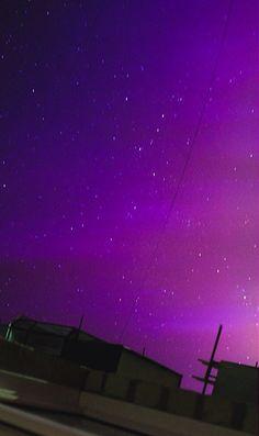 Northern lights in Sankt Petersburg, Russia,17.03.15