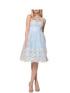 Metallic High Neck Tea Dress