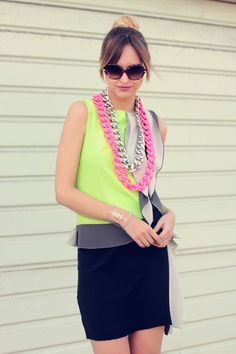 Neon, neon, and more neon! We simply can't get enough of this electric hue. How bout you?