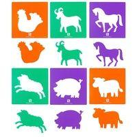 EC - Stencils - Farm Yard Animals (set of 6)
