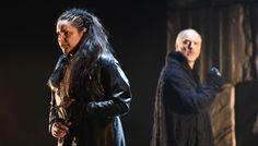 Virginia Tola (Donna Leonora) e Michele Pertusi (Padre Guardiano), Atto II - foto Roberto Ricci