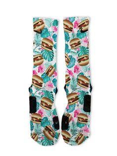 Tropical Burgers Custom Nike Elite Socks