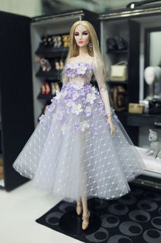 lady flower dress for fashion royalty poppy parker by Rimdoll