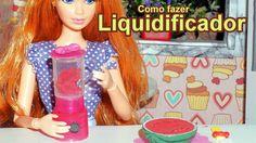 Como fazer um liquidificador para boneca Barbie, Monster High, Frozen, E...