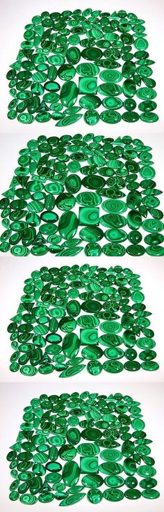 Malachite 10236: 5006 Ct Natural Wholesale Lot Rare Designer Malachite Mix Cabochon Gemstone Aaa+ BUY IT NOW ONLY: $350.0