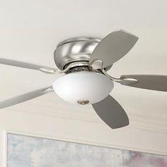 """52"""" Casa Wet Habitat™ Brushed Steel Ceiling Fan"""
