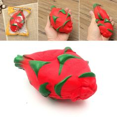 Giggle Bread Squishy Pitaya Dragon Fruit Tropical Slow Rising Original Packaging Collection Decor Toy