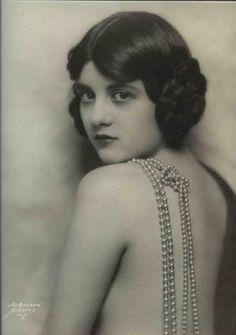 "Virginia Biddle, one time Ziegfeld girl. ""Showboat"" by DeBarron"
