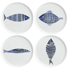 Margaret Berg Art: Fish Family Dinner Plates