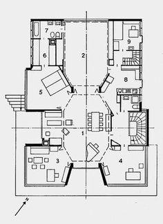 Wohnhalle: Haus Crawford-Steiger, Zürich, 1963