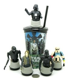 Star Wars Rogue One Movie Cinema Theater Cup Toppers 5 Set Jyn Erso Darth Vader Star Wars Darth, Darth Vader, Cinema Theater, Star Wars Episode Iv, Obi Wan, Lightsaber, Rogues, Stars, Ebay