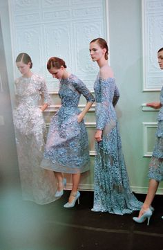 backstage at Elie Saab Haute Couture S/S 2013