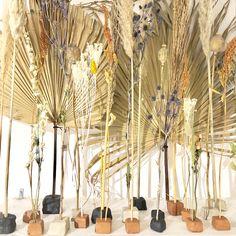 Dried flowers in clay Dried Flower Arrangements, Dried Flowers, Bridal Shop Interior, Bohemian Bride, Bohemian Weddings, Evergreen Flowers, Woodland Wedding, Forest Wedding, Easter 2021