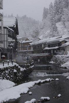 Snowy Day, Yamagata, Japan