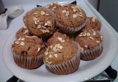 Whole wheat banana muffins with walnuts and chocolate chips