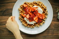 Happyolks Whole Wheat Belgian Waffles with Thyme, Strawberries, and Mascarpone-66