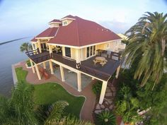Crystal Beach Villa, Overlooking the intracoastal and East Galveston Bay. Luxury Villa For Sale.