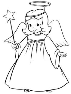 Bible Printables: Christmas Kids Coloring Pages - Christmas Play Angel Free Printable Coloring Pages, Coloring For Kids, Coloring Pages For Kids, Coloring Books, Christmas Angels, Kids Christmas, Christmas Pictures, Vintage Christmas, Angel Coloring Pages