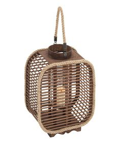 Another great find on #zulily! Tall Wood & Rope Hanging Lantern, $35 !!  #zulilyfinds