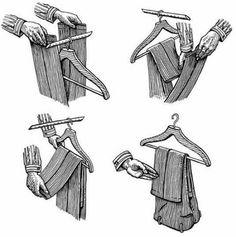 The correct way to fold pants