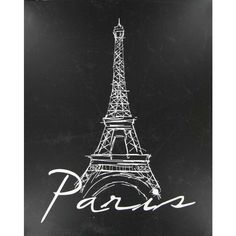 Add a touch of French flair to your home with this chic Paris Eiffel Tower Canvas Art! This simple but stunning piece features a white sketched Eiffel tower design and gorgeous white script against a